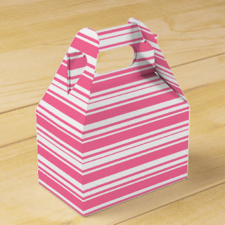 Pink And White Stripes Wedding Party Box