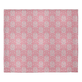 Pink and White Sweet Damask Style Pattern Duvet Cover