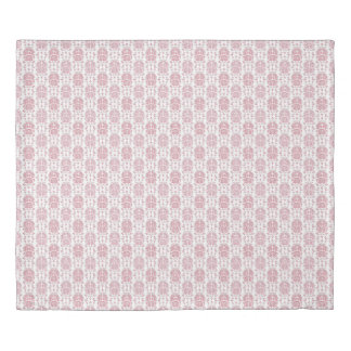 Pink and White Sweet Roses Damask Style Pattern Duvet Cover