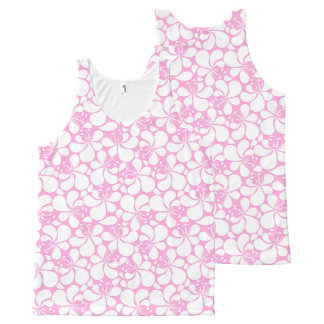 Pink and white tropical floral All-Over-Print tank top
