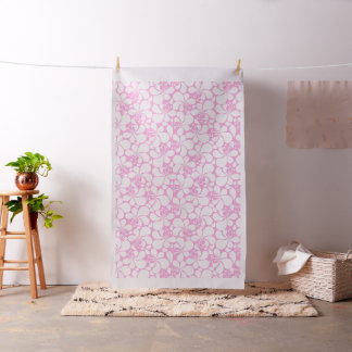 Pink and white tropical floral fabric