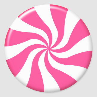 Pink And White Twist Candy Sticker