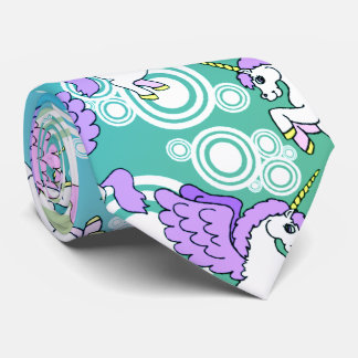 Pink and White Unicorns Tie