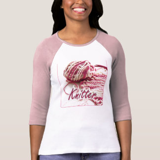 Pink and White Variegated Knitter Tee Shirt