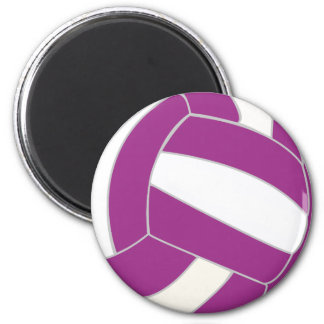 Pink and White Volleyball Magnet