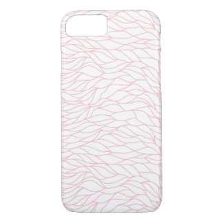 Pink and White Waves iPhone 7 Case