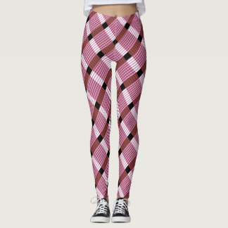 Pink and White Weave Leggings