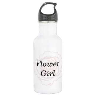 Pink and White Wedding Rose 532 Ml Water Bottle