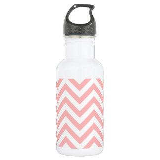 Pink and White Zigzag Stripes Chevron Pattern 532 Ml Water Bottle