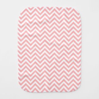 Pink and White Zigzag Stripes Chevron Pattern Baby Burp Cloths