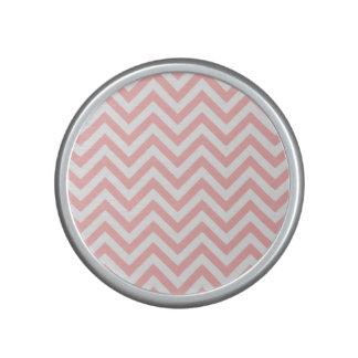 Pink and White Zigzag Stripes Chevron Pattern Bluetooth Speaker