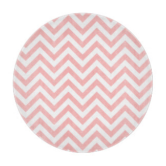 Pink and White Zigzag Stripes Chevron Pattern Boards