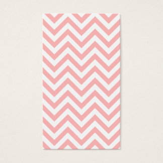Pink and White Zigzag Stripes Chevron Pattern Business Card