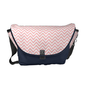 Pink and White Zigzag Stripes Chevron Pattern Commuter Bag