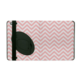 Pink and White Zigzag Stripes Chevron Pattern Covers For iPad