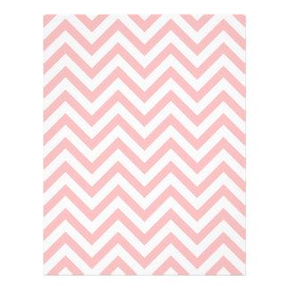 Pink and White Zigzag Stripes Chevron Pattern Flyer