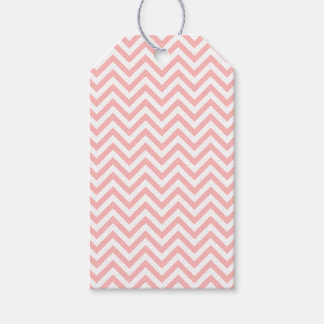 Pink and White Zigzag Stripes Chevron Pattern Gift Tags