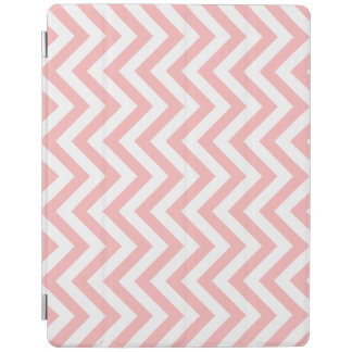 Pink and White Zigzag Stripes Chevron Pattern iPad Cover