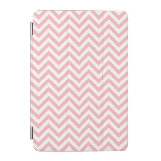 Pink and White Zigzag Stripes Chevron Pattern iPad Mini Cover
