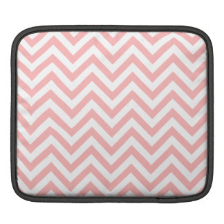 Pink and White Zigzag Stripes Chevron Pattern iPad Sleeve