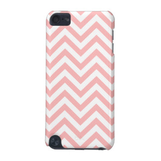 Pink and White Zigzag Stripes Chevron Pattern iPod Touch (5th Generation) Cover