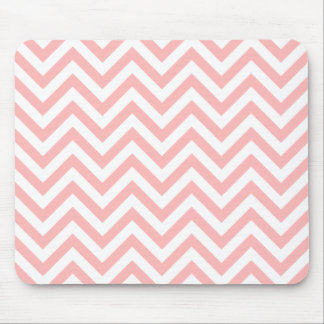 Pink and White Zigzag Stripes Chevron Pattern Mouse Pad