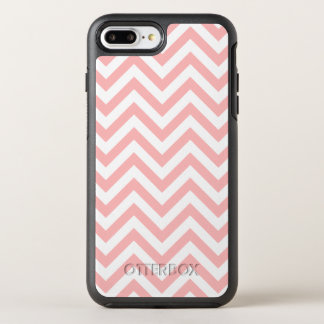 Pink and White Zigzag Stripes Chevron Pattern OtterBox Symmetry iPhone 8 Plus/7 Plus Case
