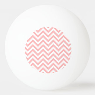 Pink and White Zigzag Stripes Chevron Pattern Ping Pong Ball
