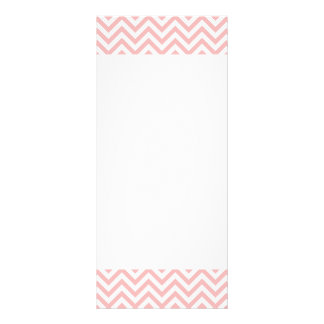 Pink and White Zigzag Stripes Chevron Pattern Rack Card