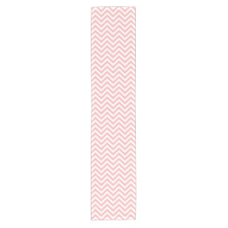 Pink and White Zigzag Stripes Chevron Pattern Short Table Runner