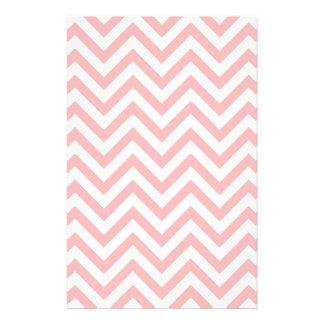 Pink and White Zigzag Stripes Chevron Pattern Stationery