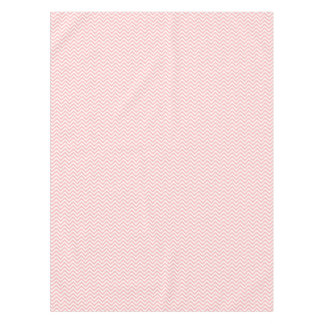 Pink and White Zigzag Stripes Chevron Pattern Tablecloth