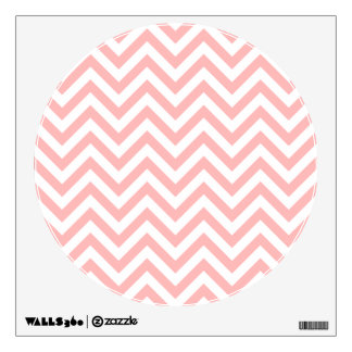 Pink and White Zigzag Stripes Chevron Pattern Wall Decal