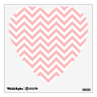 Pink and White Zigzag Stripes Chevron Pattern Wall Sticker