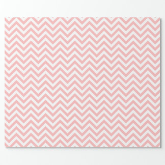 Pink and White Zigzag Stripes Chevron Pattern Wrapping Paper