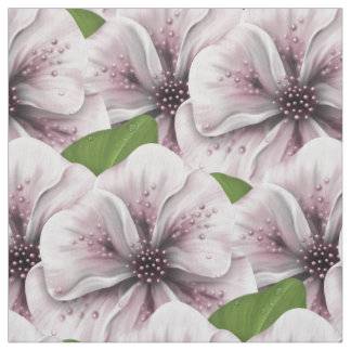 Pink and Wine Floral Fabric