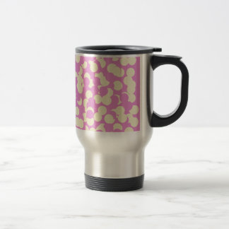 Pink and Yellow Confetti Travel Mug