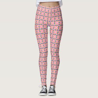 Pink and Yellow Crown Geometric - Leggings
