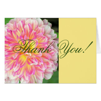 PINK AND YELLOW DAHLIA/THANK YOU CARD