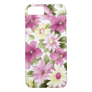 Pink And Yellow Flowers iPhone 8/7 Case