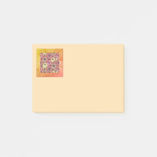 Pink And Yellow  Flowers Post-it Notes