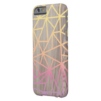 Pink and Yellow Geometric Wood Case