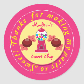 Pink and Yellow Gumball Sweet Shop sticker