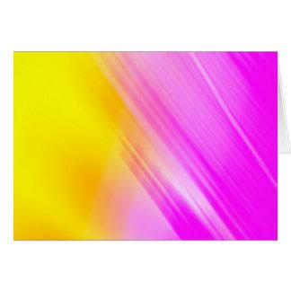 Pink And Yellow Haze Card