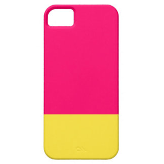 Pink and yellow  iPhone case