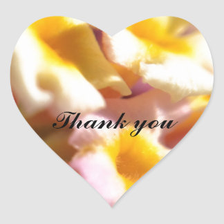 Pink and yellow lantana flower thank you sticker