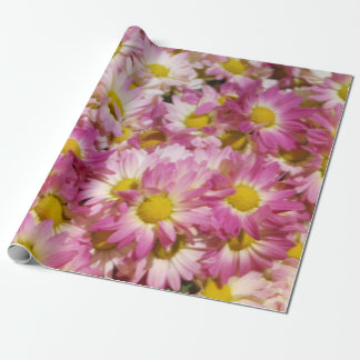 Pink and Yellow Mums Wrapping Paper