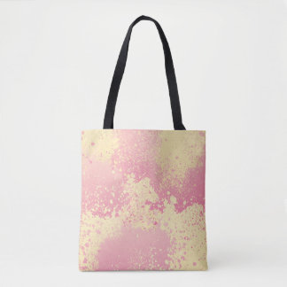 Pink and Yellow Paint Splatter Tote Bag