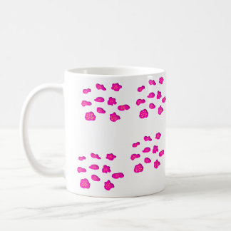Pink and yellow print mug