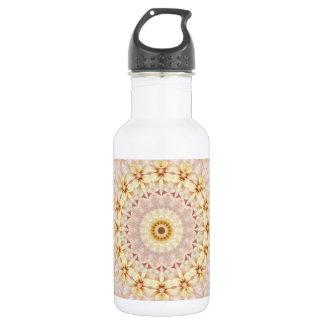 Pink and Yellow Rectangular Mandala Art 532 Ml Water Bottle